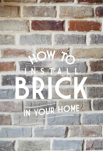 How to install brick wall
