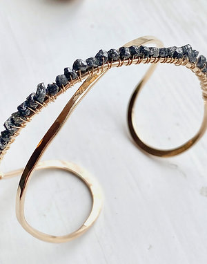 The Cosette Raw Diamond Cuff