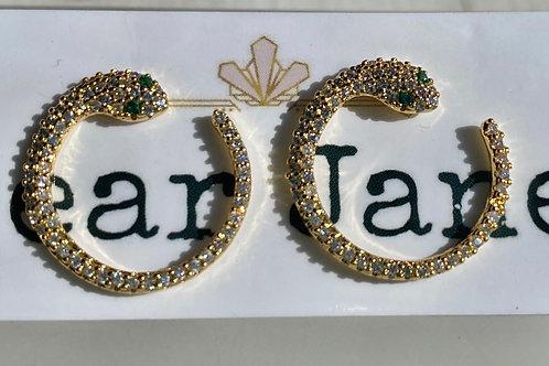 Large Snake Stud Earrings