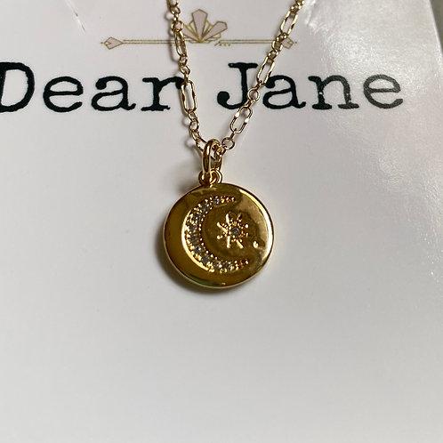 Celestial Disc Necklace