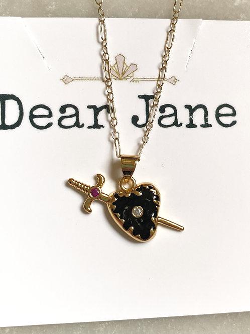 Dagger Heart Necklace