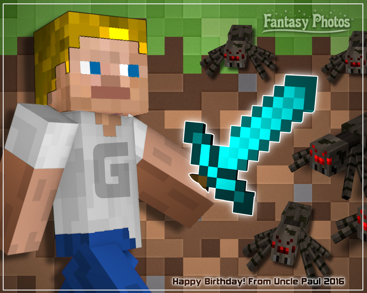 Fantasy Photos- Minecraft Birthday