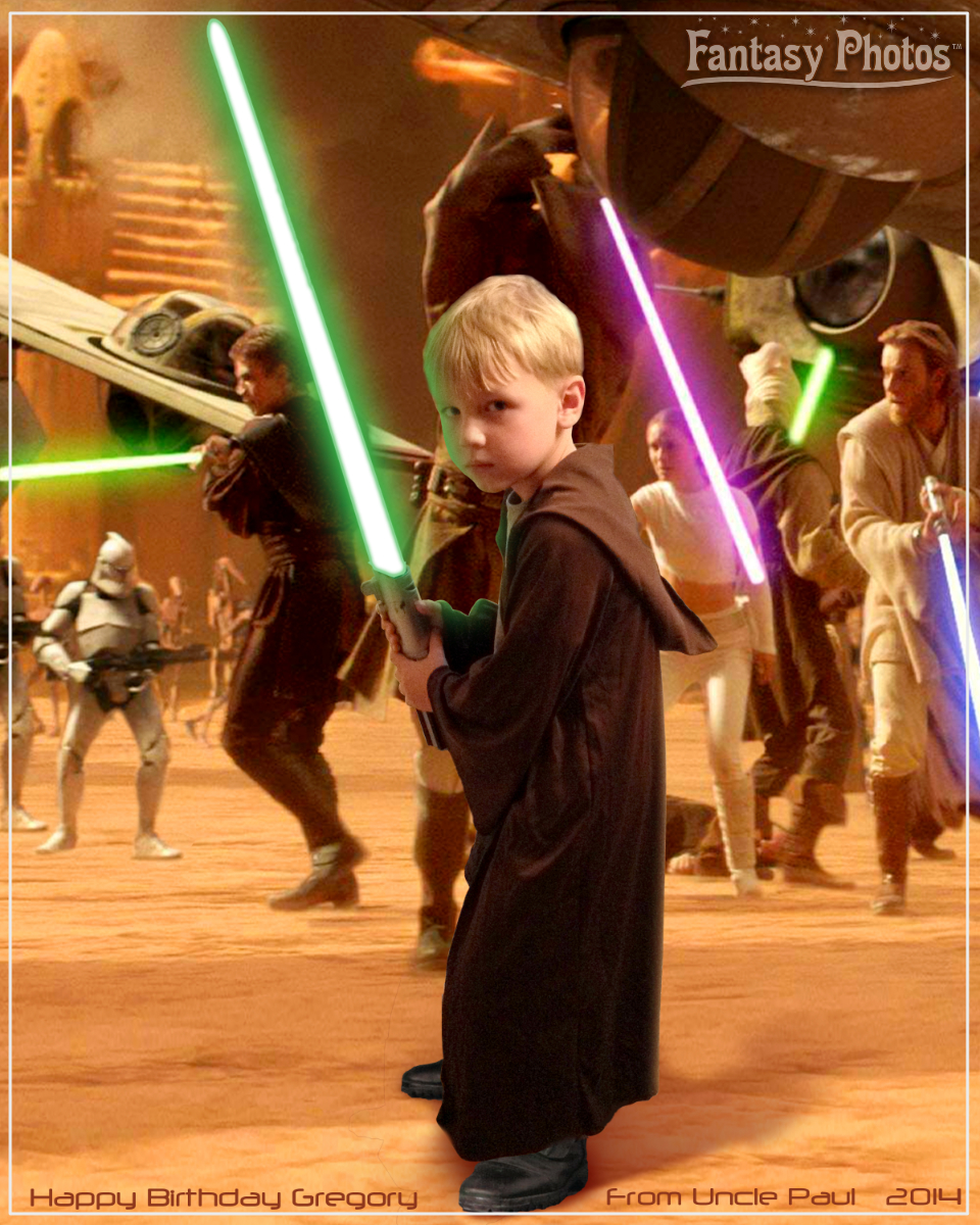 Fantasy Photos-Birthday Jedi Battle