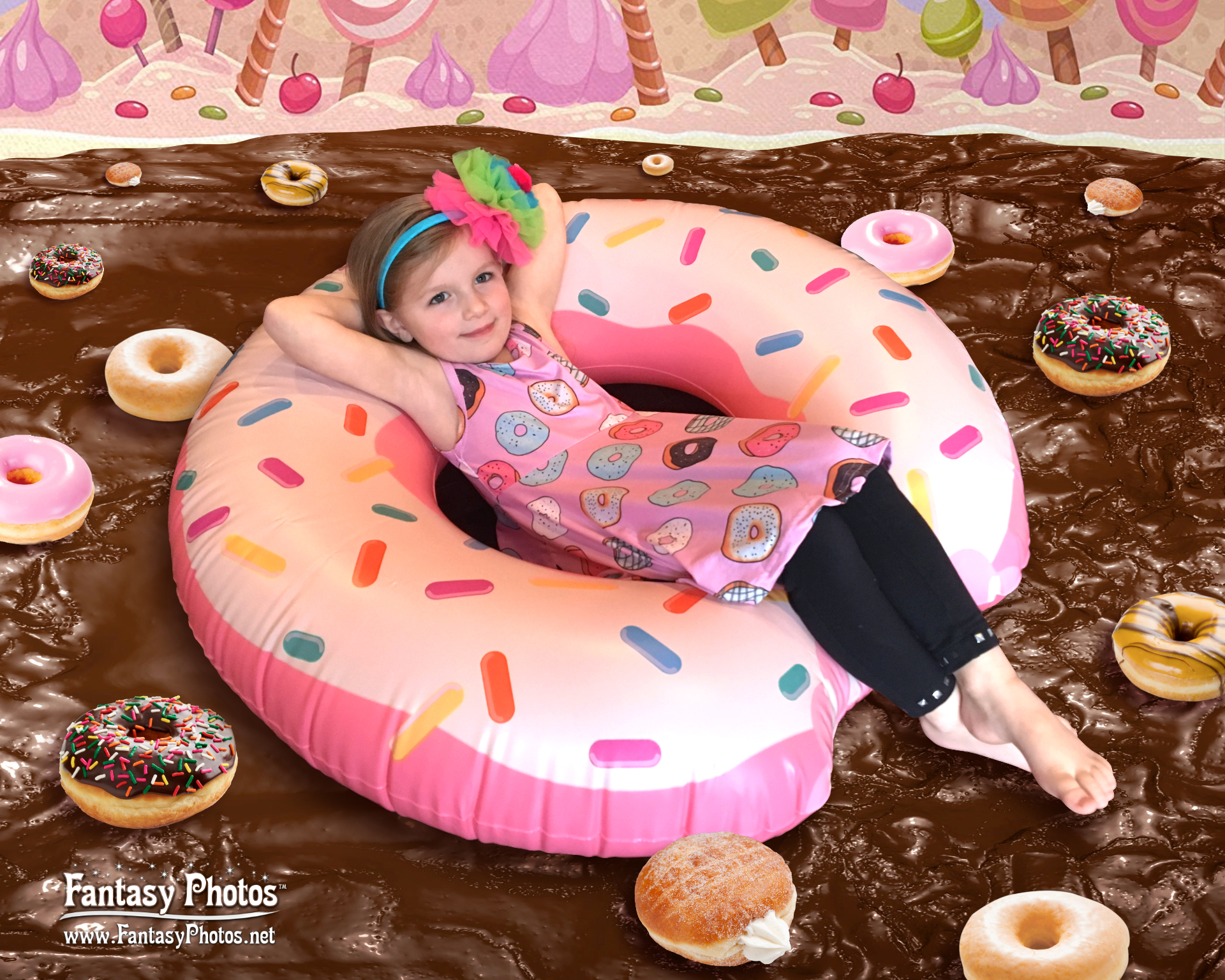 Fantasy Photos-5th Birthday-Donut Float-