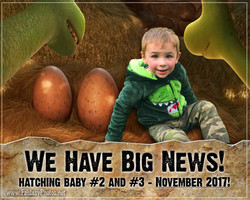 Fantasy Photos-Dinosaur Birth Announcement