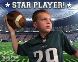 Fantasy Photos-Birthday-Star Player Football