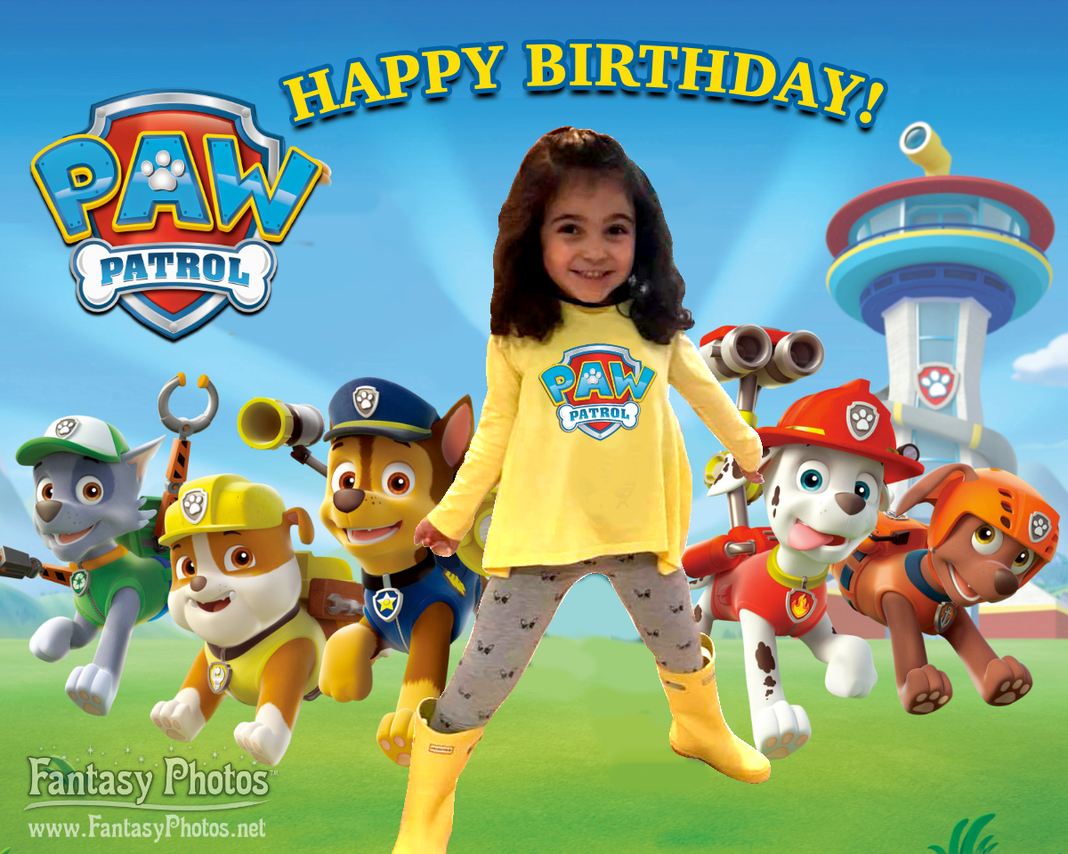 Fantasy Photos-Paw Patrol Birthday
