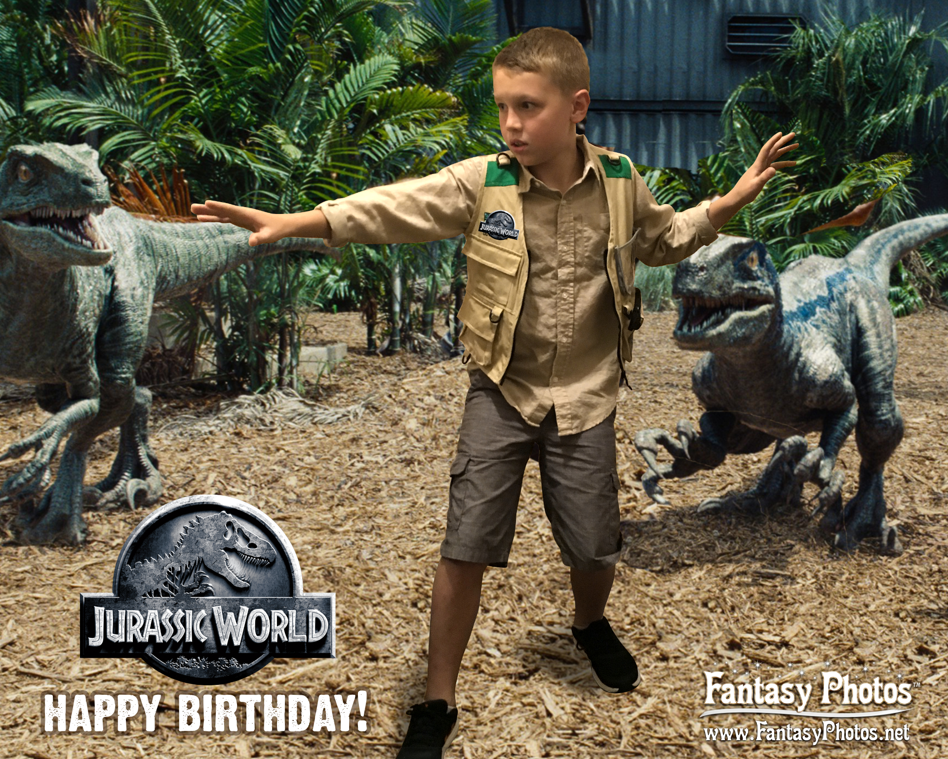 Fantasy Photos Jurassic World Birthday-W