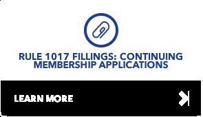 1017 Filings: Continuing Membership Application
