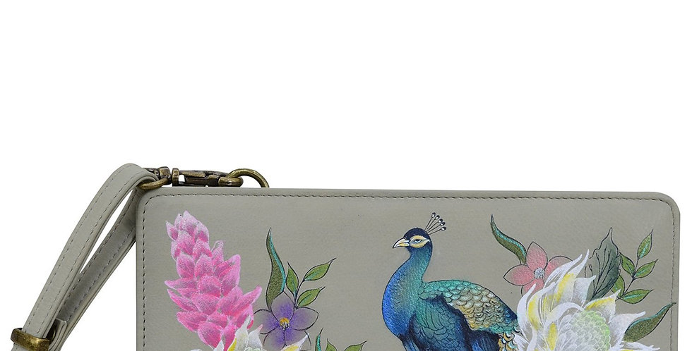*Regal Peacock Organizer Wallet Crossbody by Anuschka