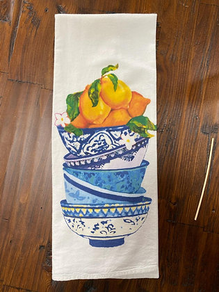 Stacked Bowls - Original Art Dishtowel