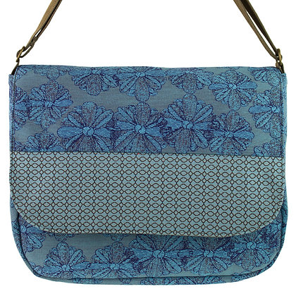 """Metro"" in Blue Floral by Maruca Design"
