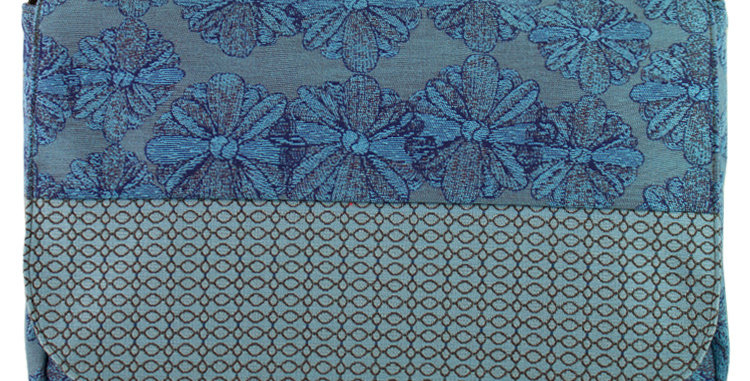 """Metro"" in Blue Floral by Maruca Design"