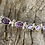 Thumbnail: Regal Amethyst & Sterling Silver Bracelet