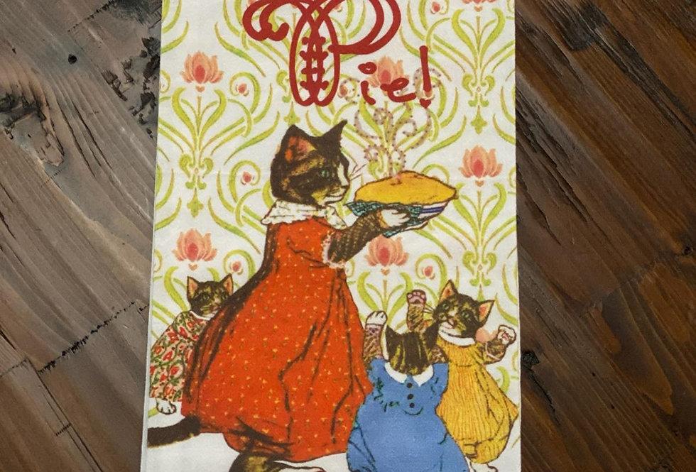 Pie! - Original Art Dishtowel