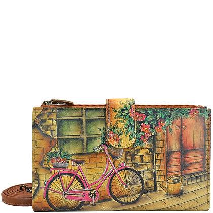 Vintage Bike Zip-Around Organizer, by Anuschka