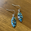 Thumbnail: Sterling Silver and Turquoise Composite Earrings
