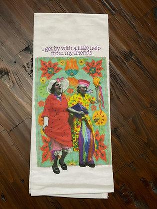 Friends - Original Art Dishtowel