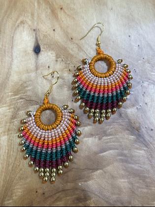 Kingfisher - Handwoven Greek Earrings