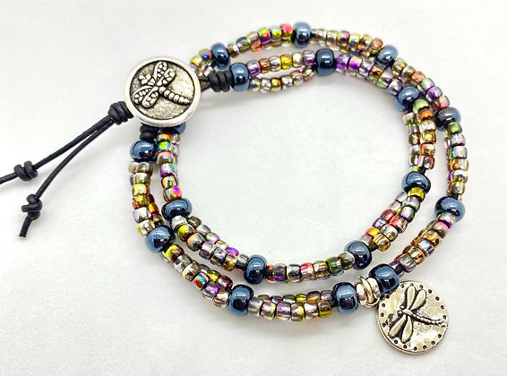 Double-Wrap Dragonfly Bracelet