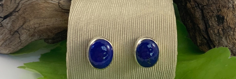 Lapis & Sterling Silver Studs