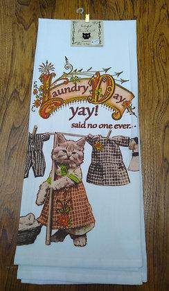 Laundry Day - Original Art Dishtowel