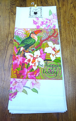 Happy Toucan - Original Art Dishtowel