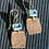 Thumbnail: Ann Mooney Design Hand-Rolled Copper & Blue Topaz Dangles 14k rgf Wires