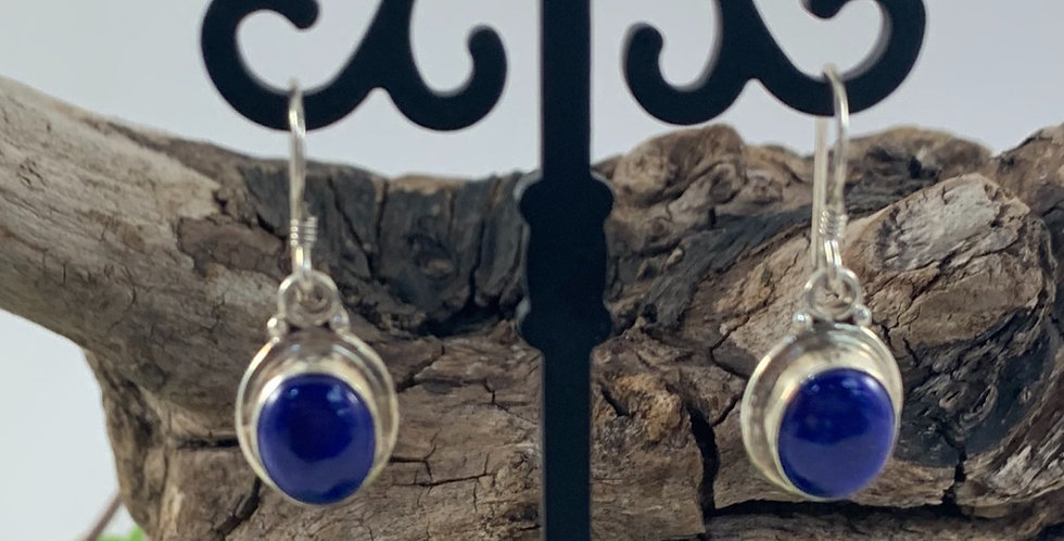 Lapis & Sterling Silver Dangles