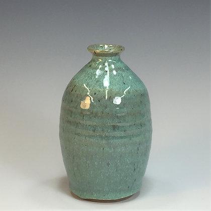 Bottle Vase, Sea Spray Opal