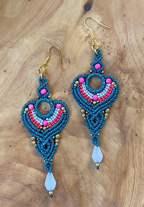 Majestic Marvel - Handwoven Greek Earrings