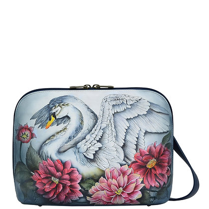*Swan Song Zip Around Everyday Crossbody, by Anuschka