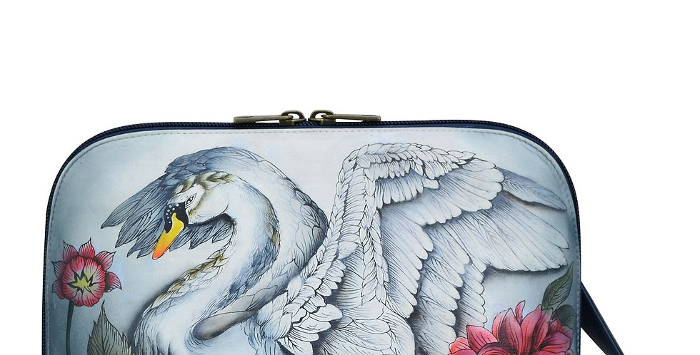 *Swan Song Zip Around Everyday Crossbody, by Anuschka