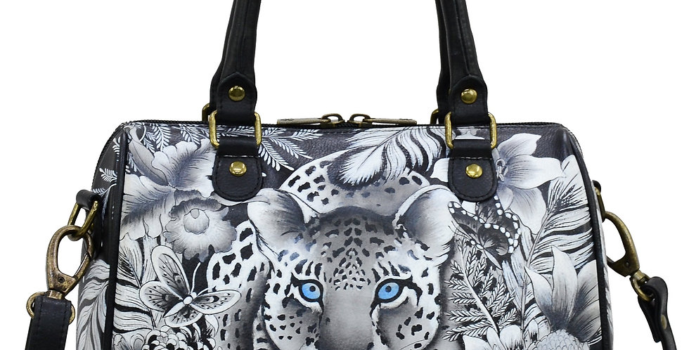 Cleopatra's Leopard Multi-Compartment Large Satchel by Anuschka