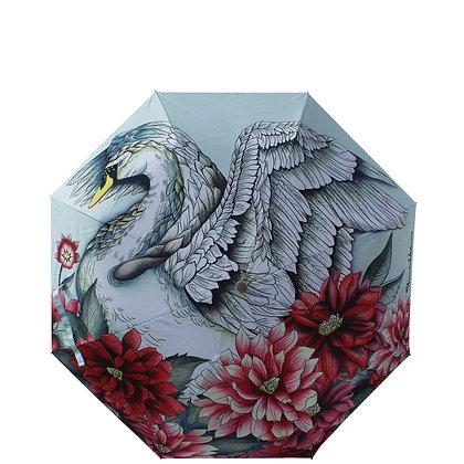 *Swan Song Auto Open/Close Umbrella