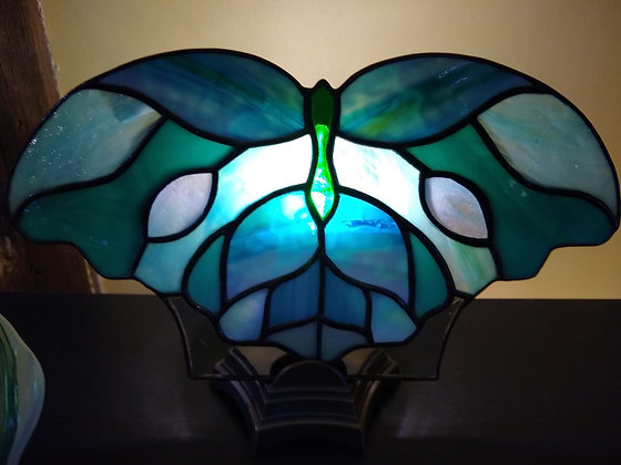 Blue Butterfly Fan Lamp
