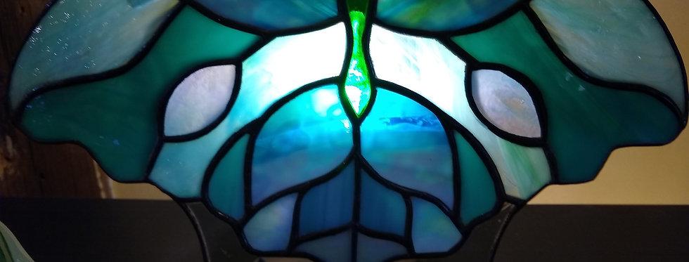 Blue Butterfly Fan Lamp