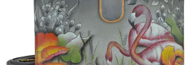 Flamboyant Flamingos Cellphone Case & Wallet, by Anuschka