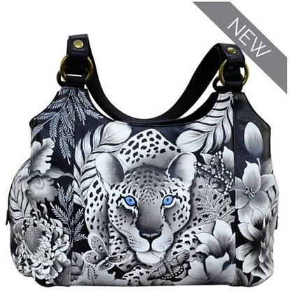 """""""Cleopatra's Leopard"""" Classic Hobo with Side Pockets, by Anushka"""