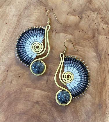 Thunderclap - Handwoven Greek Earring