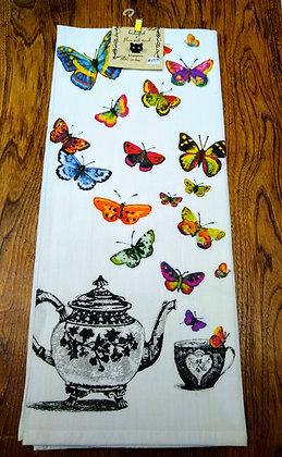 Flutterby - Original Art Dishtowel