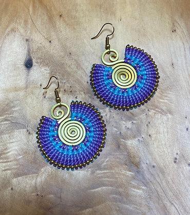 Midnight Mage - Handwoven Greek Earrings