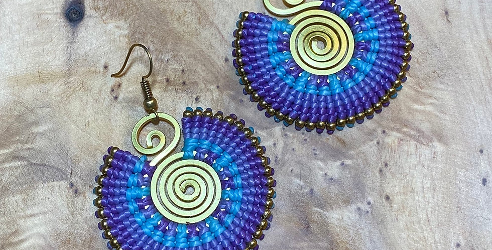 Midnight Mage - Handmade Greek Earrings