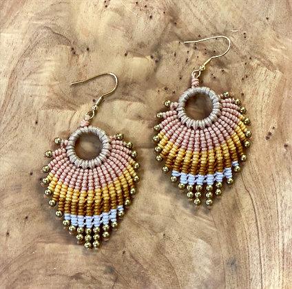 Feather Light (elafrý san fteró) - Handwoven Greek Earrings