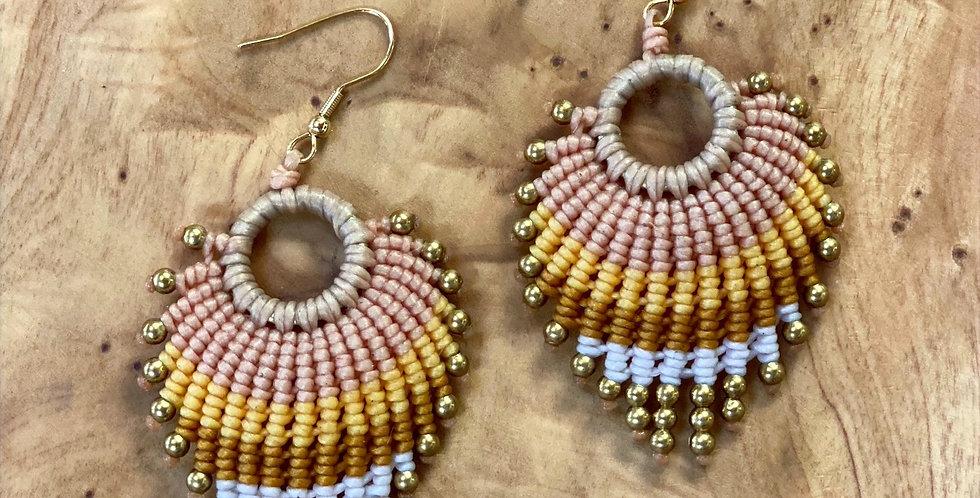 Feather Light (elafrý san fteró) - Handmade Greek Earrings