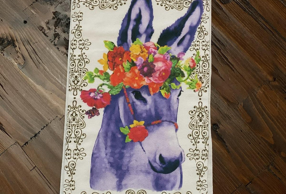 Donkey - Original Art Dishtowel