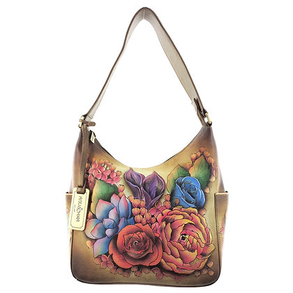 """""""Lush Lilac"""" Bronze Classic Hobo with Side Pockets"""