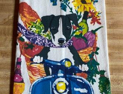 Scooter Pooch - Original Art Dishtowel