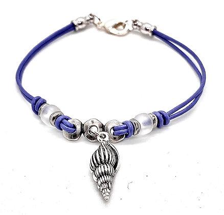 Lavender Lover Seashell Bracelet