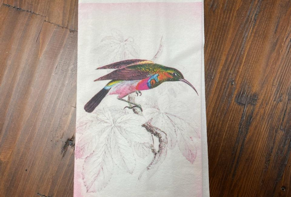 Humming Bird - Original Art Dishtowel